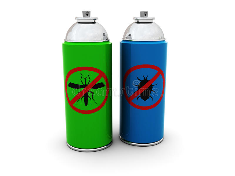 insekticidsprays royaltyfri illustrationer