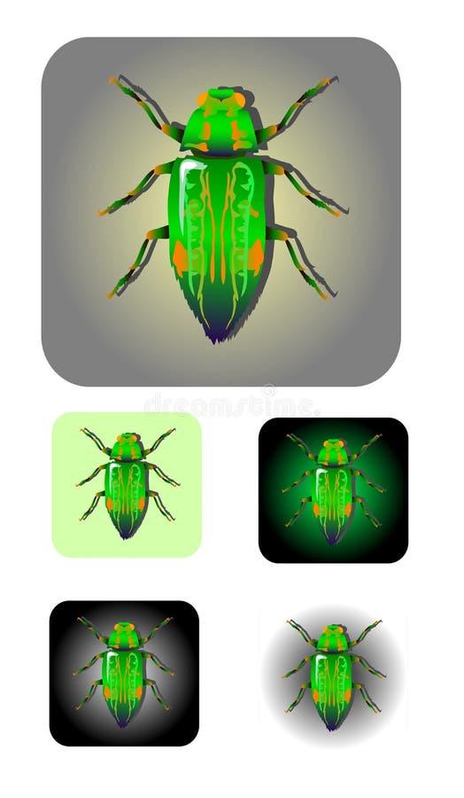 Insektvektorikone vektor abbildung