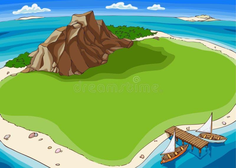 Insel lizenzfreie abbildung