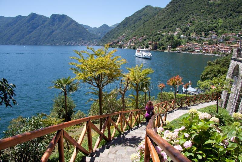 Insel Comacina lizenzfreies stockfoto