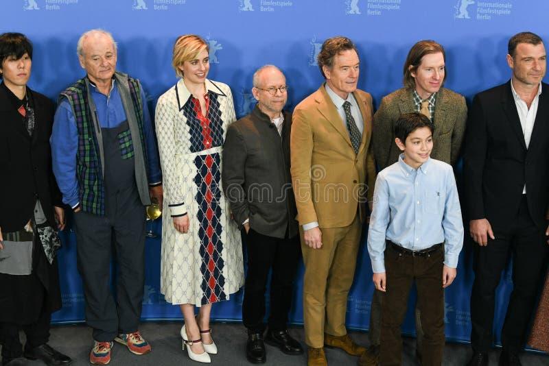 Insel des Hundefotoanrufs während des 68. Berlinale-Film-Festivals lizenzfreies stockfoto