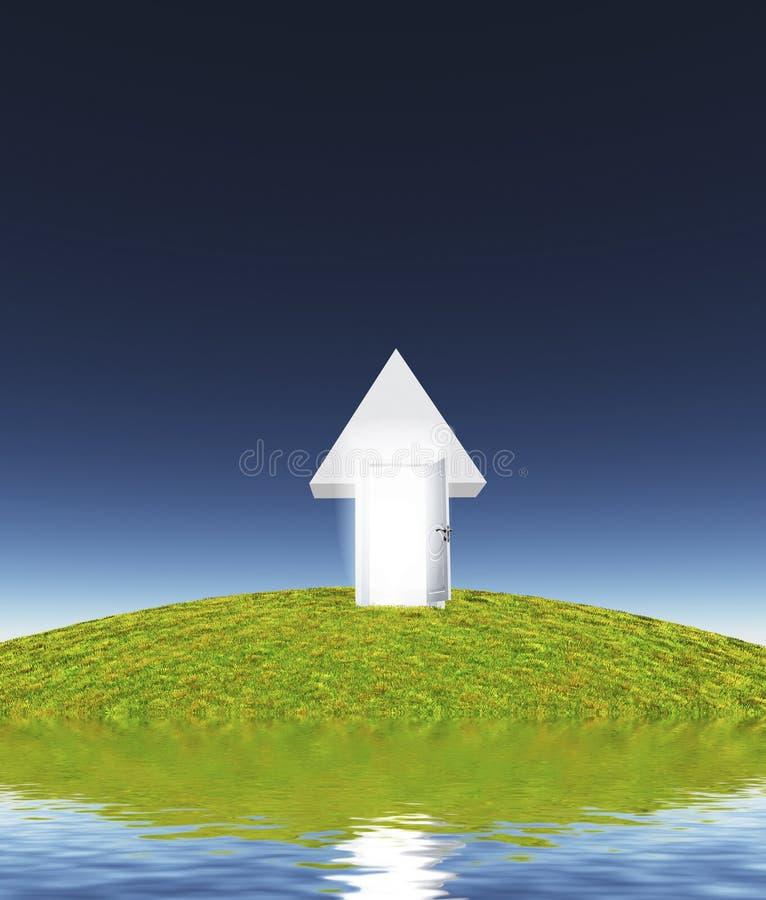 Insel des weißen Portals lizenzfreie abbildung
