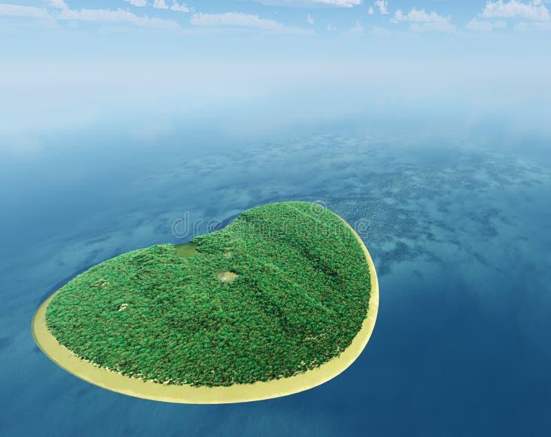 Insel in Form von Innerem stock abbildung