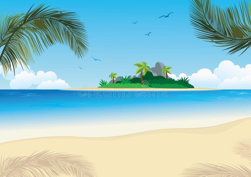 Insel-Hintergrund lizenzfreie stockbilder