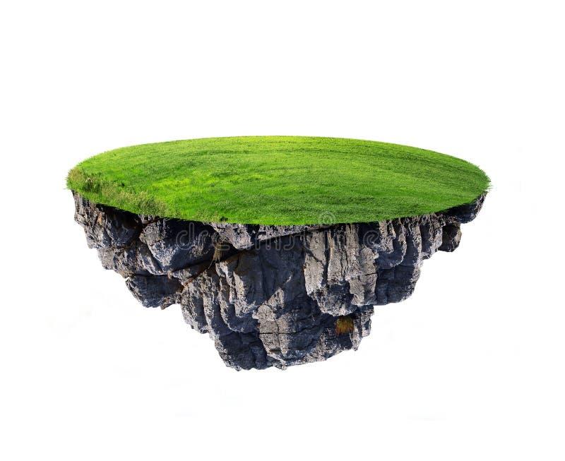 Insel im Himmel stockfoto