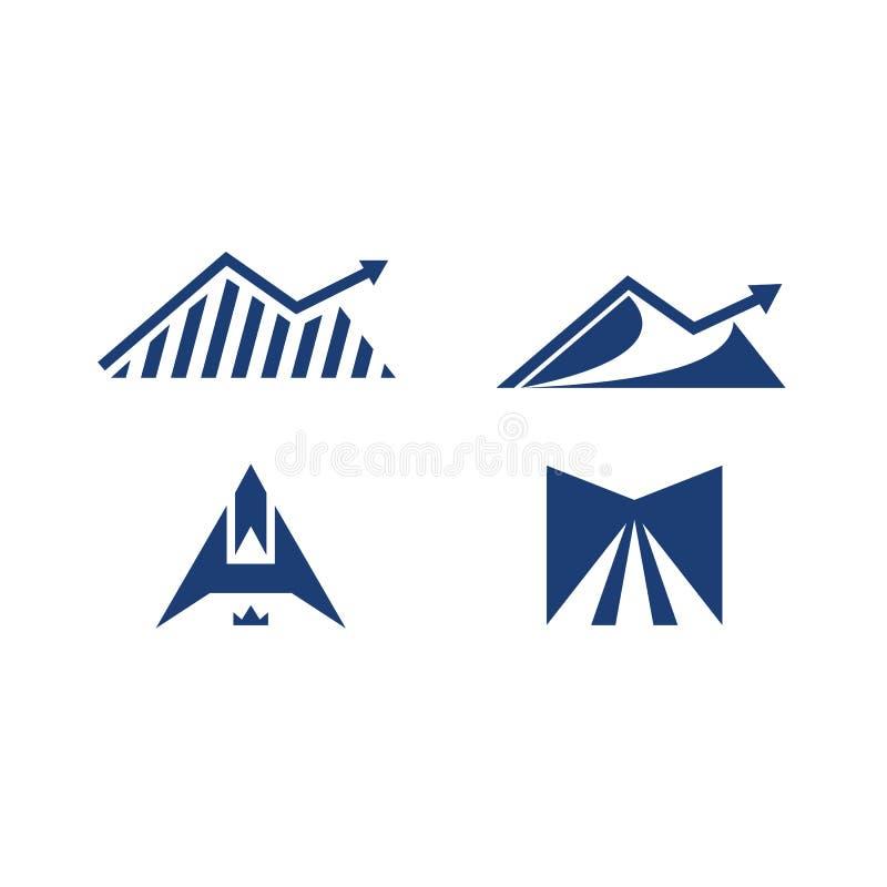 Insel investation Logo herauf abstrakten Straßen-Logosatz a-Logos M lizenzfreie abbildung