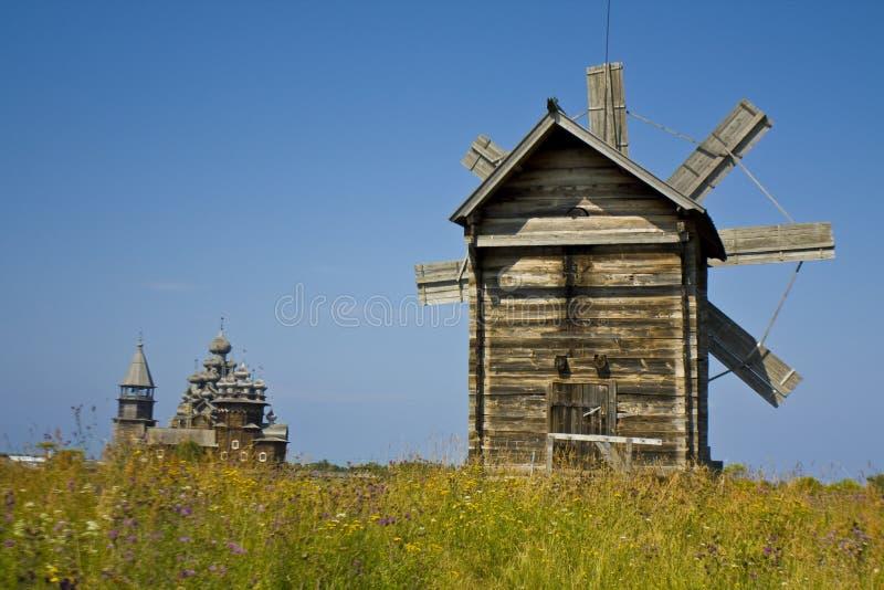 Insel Kizhi, hölzerne Architektur stockfoto