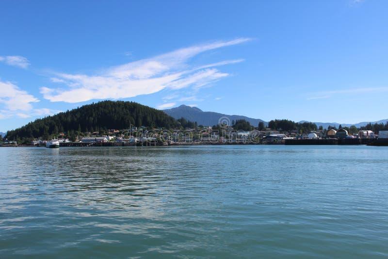 Insel-Landschaft Wrangell Alaska auf Sunny Day im Sommer lizenzfreie stockfotos