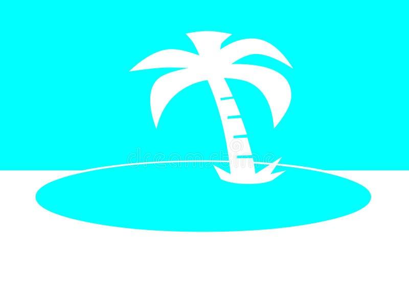 Insel mit Palme stockfoto