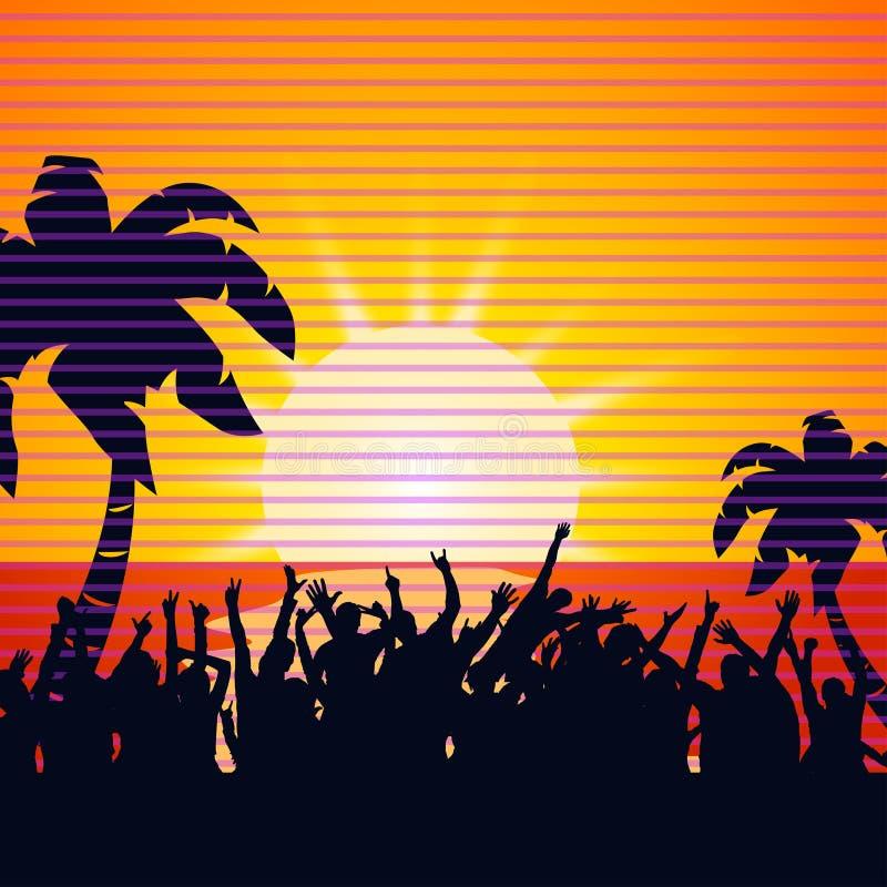 Insel party24 stock abbildung