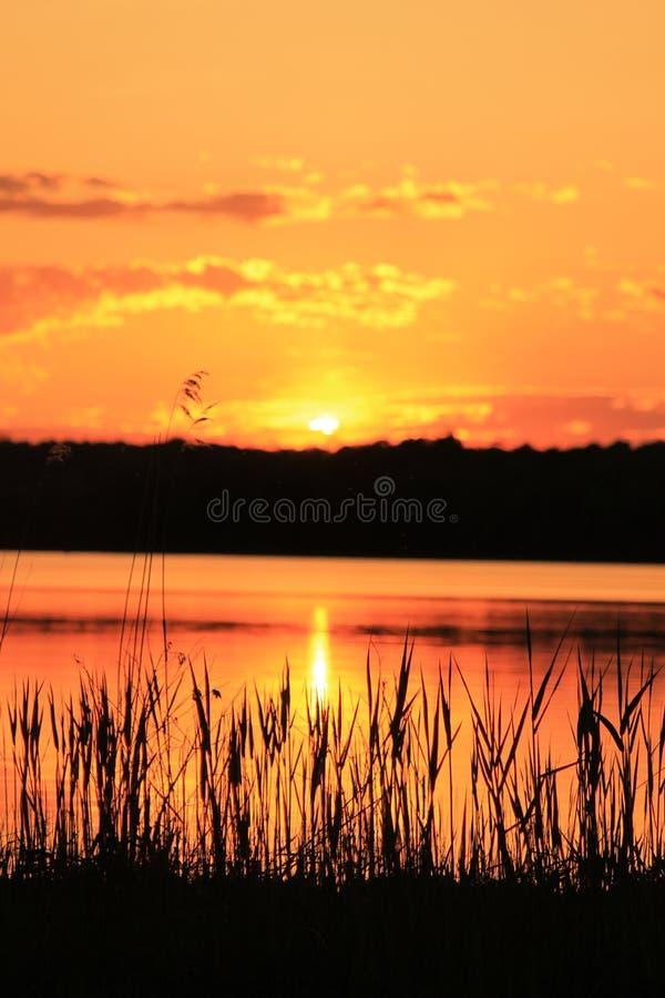Insel-Sonnenuntergang stockfotos