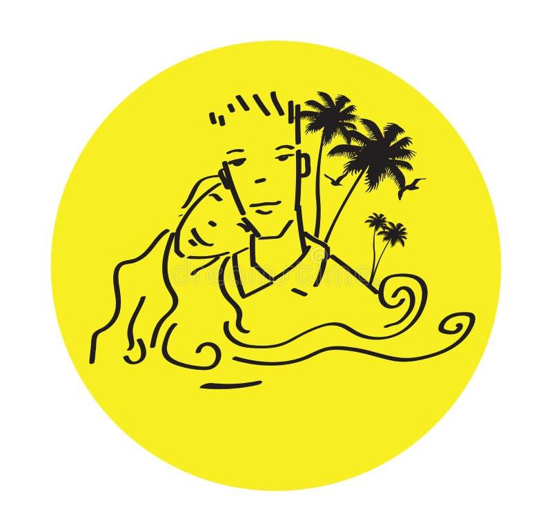 Insel und Liebe stock abbildung