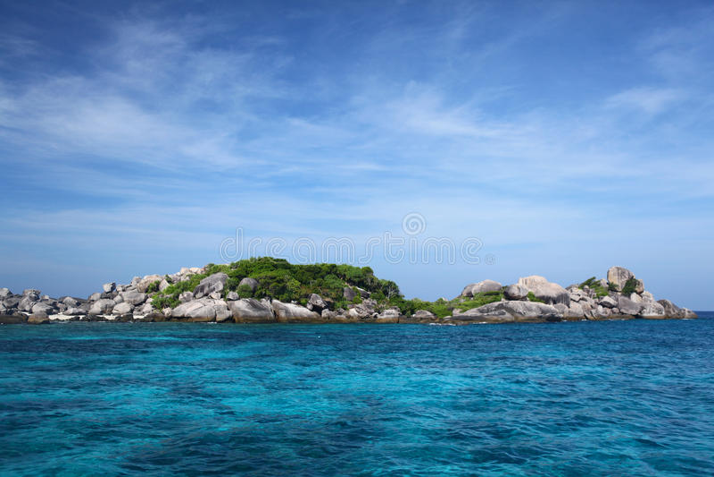 Insel und Meer lizenzfreies stockfoto