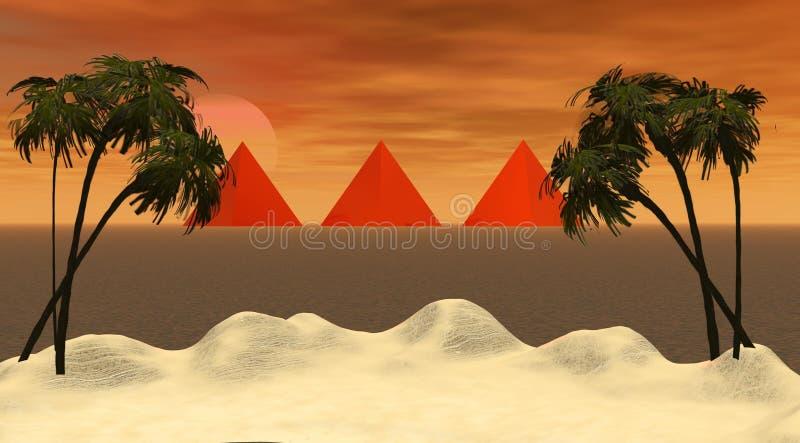 Insel und Pyramiden vektor abbildung