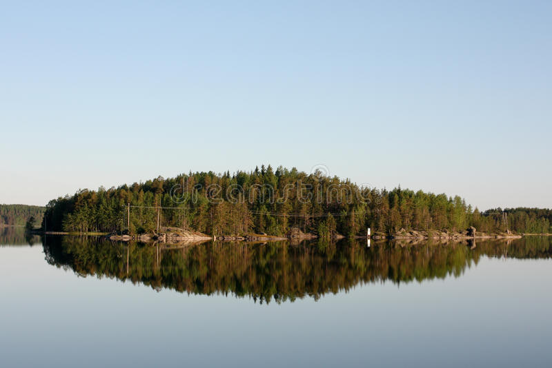 Insel und Reflexion stockfotos