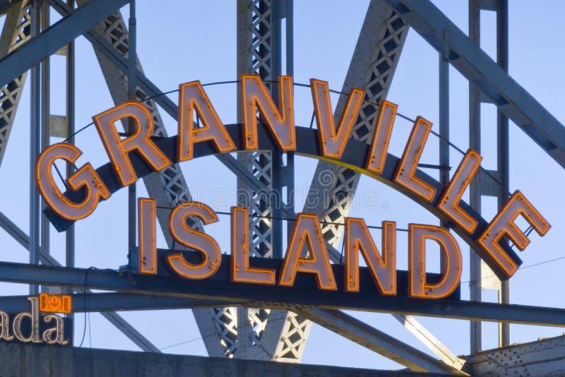 Insel Vancouver-Granville stockbilder