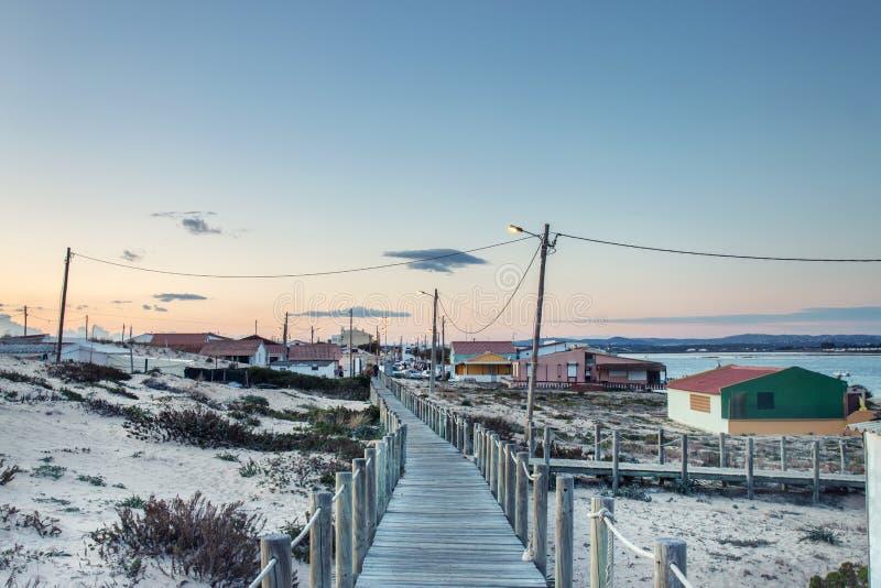 Insel von Faro bei Sonnenuntergang stockfotografie