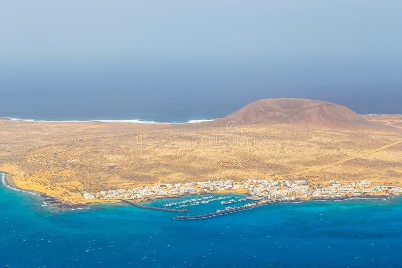 Insel von La Graciosa, Lanzarote, Kanarische Inseln lizenzfreie stockfotografie