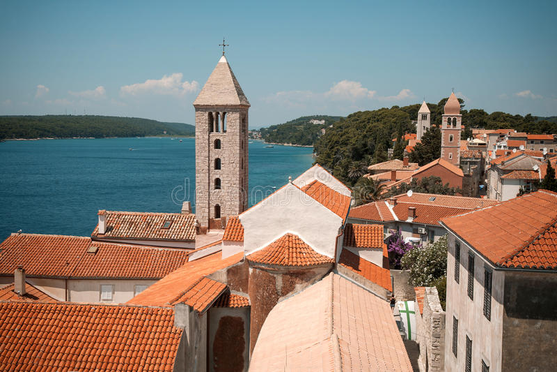Insel von Rab, Kroatien stockbild