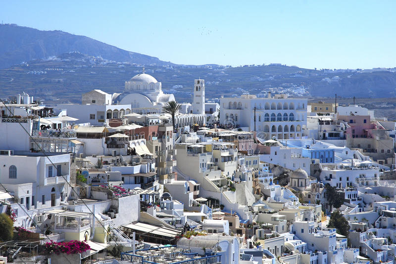 Insel von Santorini, Griechenland lizenzfreie stockfotografie