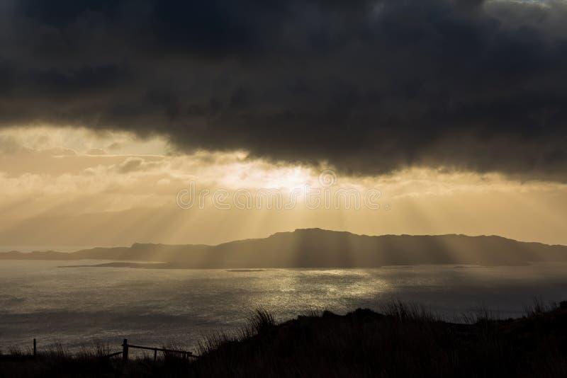 Insel von Skye-Sonnenaufgang lizenzfreies stockfoto