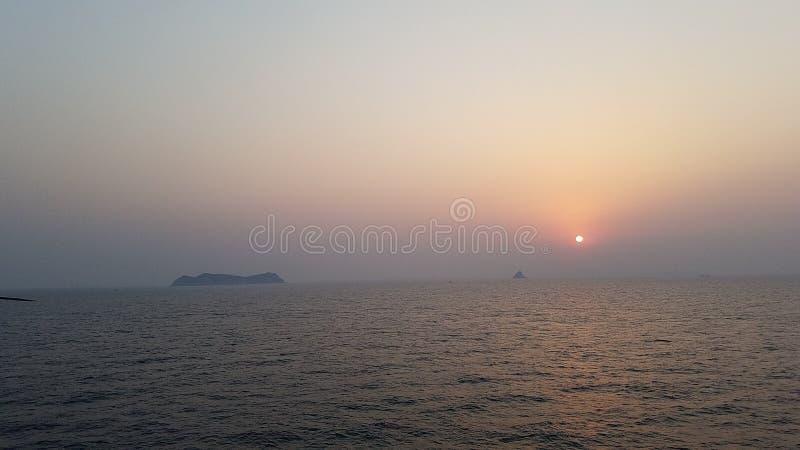 Insel vor der Küste von Korea stockbilder