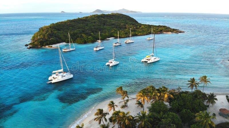 Inseln der Grenadinen, Tobago-Cays stockfotografie