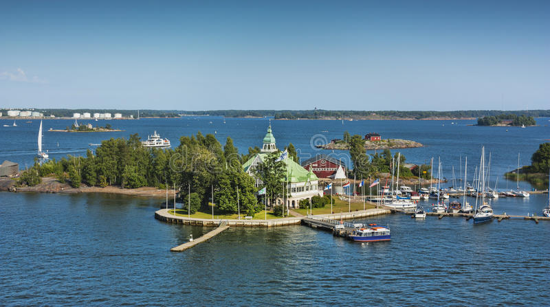 Inseln nähern sich Helsinki in Finnland stockfotografie
