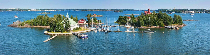 Inseln nähern sich Helsinki in Finnland stockfoto