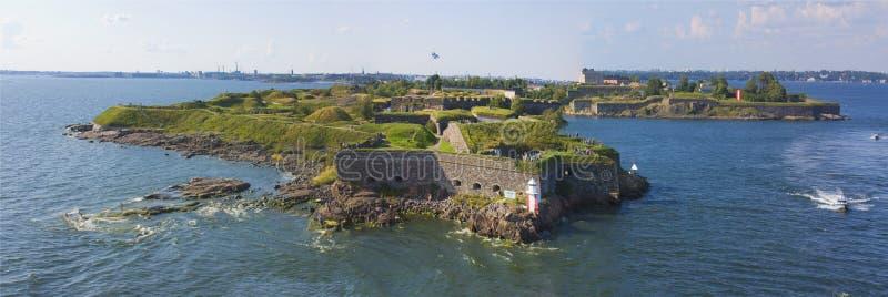 Inseln nähern sich Helsinki in Finnland stockfotos