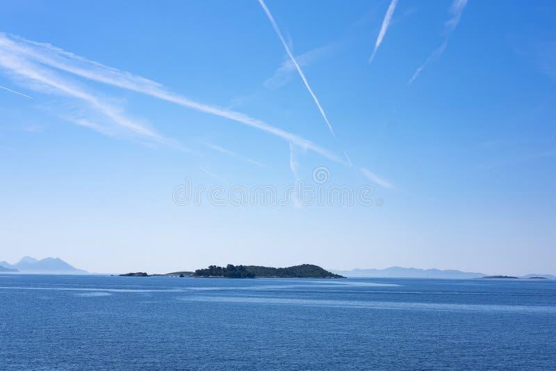 Inseln nahe Korcula, Dalmatien stockbild