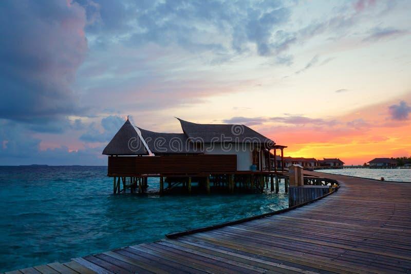 Inselresort Jumerirah Vittaveli, Malediven stockbilder