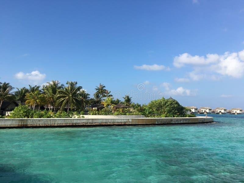 Inselresort Jumerirah Vittaveli, Malediven stockfotografie