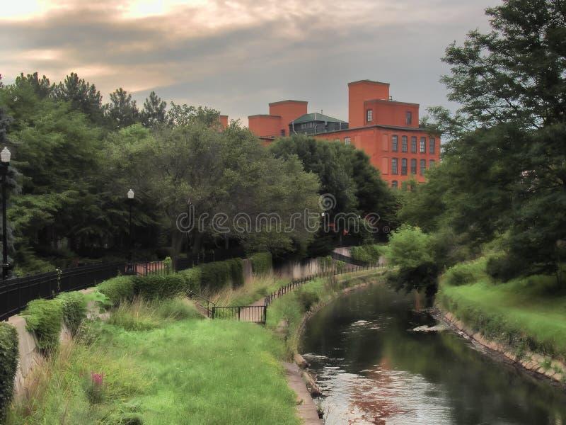 Insenatura del Onondaga, Siracusa, NY fotografia stock