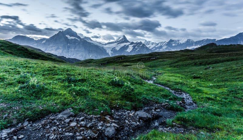 Insenatura e montagna immagini stock libere da diritti