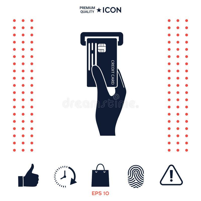 Download Inserimento Dell'icona Della Carta Di Credito Illustrazione Vettoriale - Illustrazione di spinta, commercio: 117975668