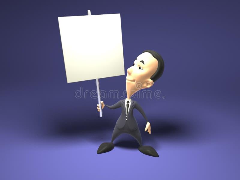 Inserisca il vostro testo illustrazione di stock