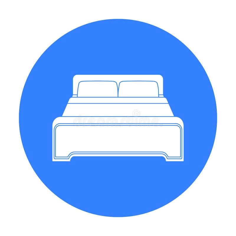 Inserisca l'icona nello stile nero isolata su fondo bianco Illustrazione di vettore delle azione di simbolo dell'hotel illustrazione di stock