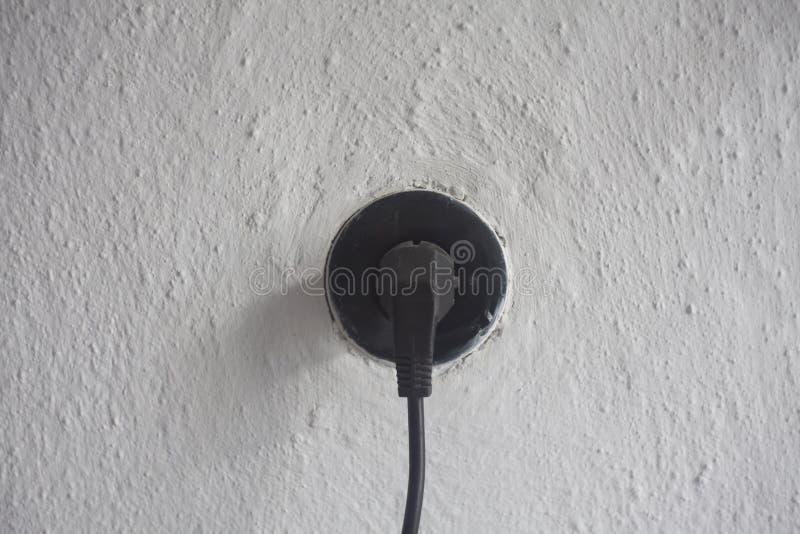 Inserisca l'incavo per l'elettricità immagine stock libera da diritti