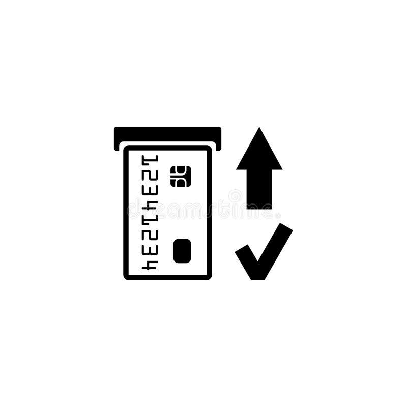 Inserte el icono de la tarjeta de crédito Muestra de las compras Símbolo de la atmósfera del banco libre illustration