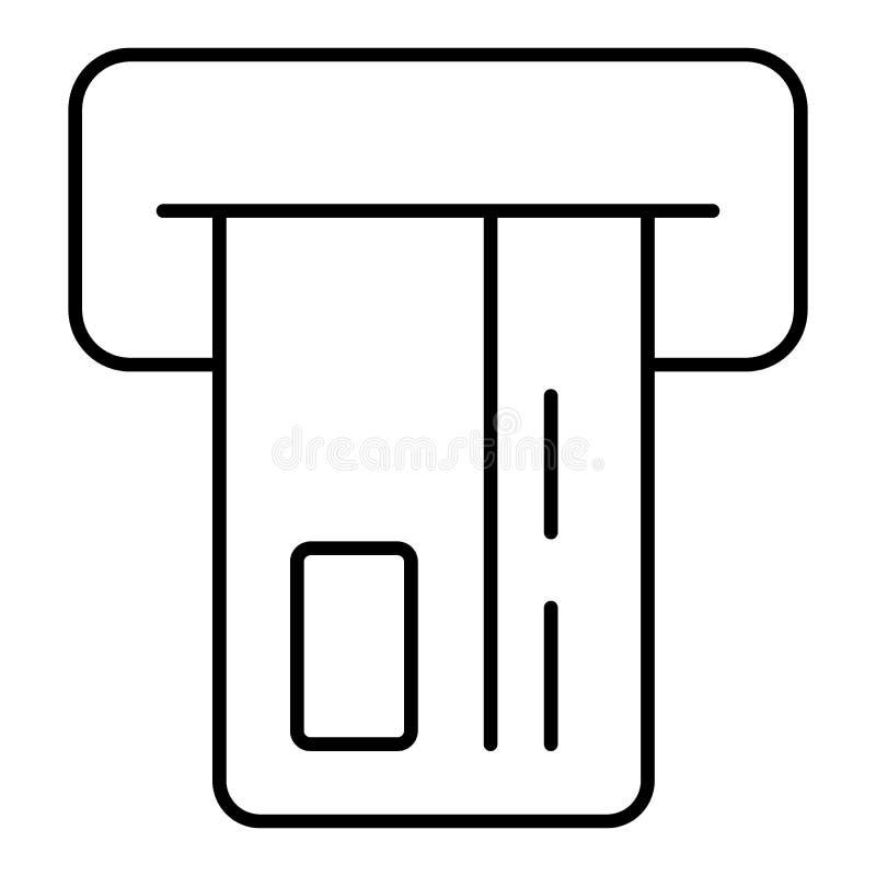 Inserte el icono de la tarjeta de crédito Muestra de las compras Símbolo de la atmósfera del banco Diseño plano del esquema EPS 1 stock de ilustración