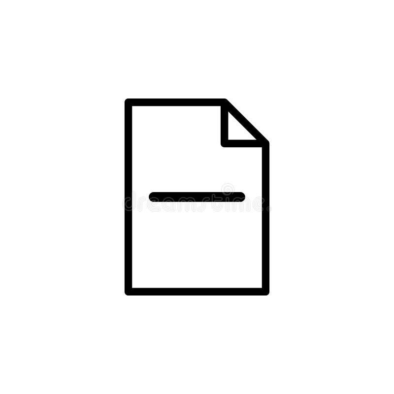 Inserte la citación, página, icono menos Puede ser utilizado para la web, logotipo, app móvil, UI, UX stock de ilustración