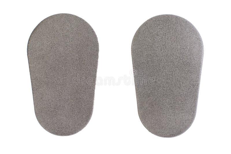 insertion grise de polyuréthane dans des jeans pour la protection, protecteurs de corps de garde pour la sécurité d'isolement à l image libre de droits