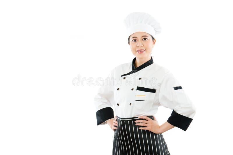 Inserzione cinese della mano del cuoco unico della donna la vita immagine stock libera da diritti