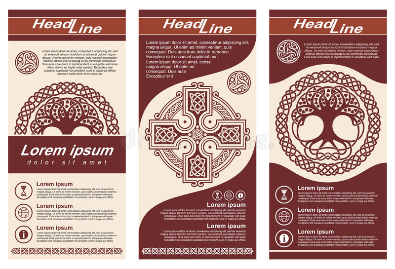 Inseto de estilo celta ilustração do vetor