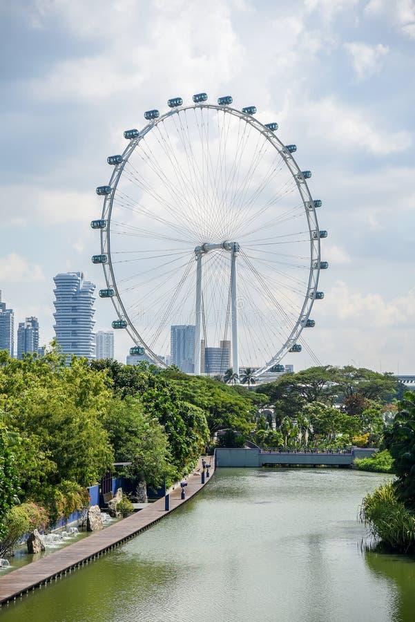 Inseto de Singapura, a roda de ferris gigante, Singapura imagens de stock