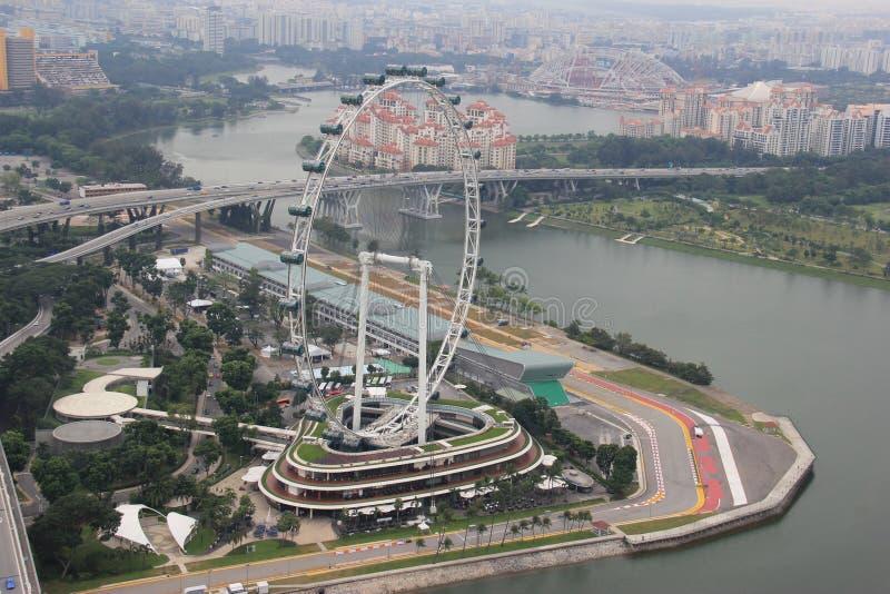 Inseto de Singapura, uma da roda de ferris a mais alta do mundo imagens de stock royalty free