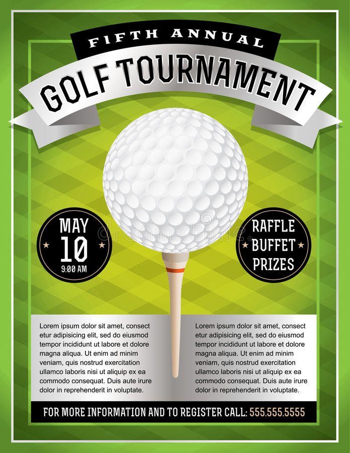 Inseto do competiam do golfe ilustração royalty free