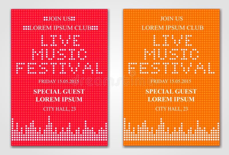 Inseto do festival de música de Minimalistic ilustração royalty free