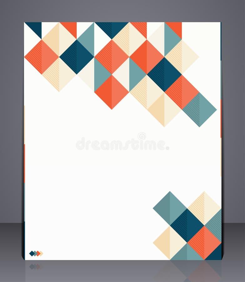 Inseto do negócio da disposição, capa de revista, ou propaganda incorporada do molde do projeto geométrico ilustração royalty free